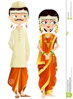 Maharashtrian Wedding Couple - Download From Over 61 Million High Quality Stock Photos, Images, Vectors. Sign up for FREE today. Image: 30668796