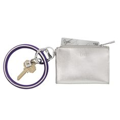 O-Venture's Big O Key Ring and Card Cases / Pouches are a perfect On-the-gO accessOry! These cool key rings are the best hOliday gifts or gifts for any OccasiOn! - Silver accessory for her - Best Christmas gifts for her