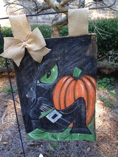 A personal favorite from my Etsy shop https://www.etsy.com/listing/466662523/halloween-garden-flag