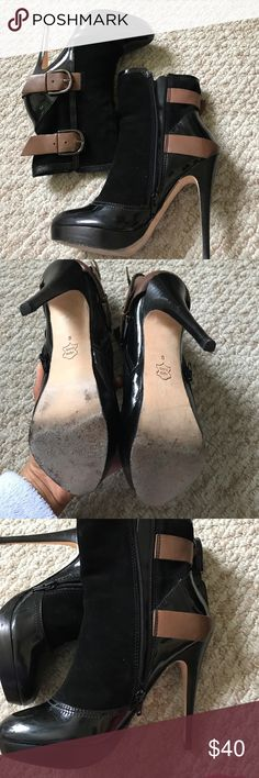 Charles David boot heels size 5 Suede and some leather detail. Price to sale. Need to get rid of a lot of stuff to make room for more:). In excellent condition. Only wore these twice or 3 times Charles David Shoes Heeled Boots