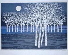 White Barked Trees by Fumio Fujita