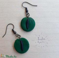 Kígyó szem fülbevaló (IndieLynx) - Meska.hu Handmade Jewellery, Pendant Necklace, Jewelry, Jewellery Making, Handmade Jewelry, Jewerly, Jewelery, Jewels, Jewlery