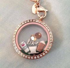 Coffee lovers Origami Owl. Independent Designer ❥TO SHOP: http://lindseylou.origamiowl.com