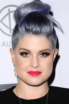 Kelly Osbourne Works An Updo To Reveal Her Undercut At BeautyCon, 2014