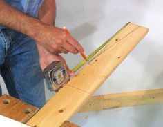 How to build shelves Wood Storage Rack, Storage Shed Organization, Garage Organisation, Diy Storage Shelves, Lumber Storage, Lumber Rack, Organizing, Wood Shelves Garage, Timber Garage