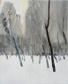 """Mykolé,""""Trees 1"""", 2013, 41 x 33 cm Oil, canvas. Contemporary landscape paintings."""