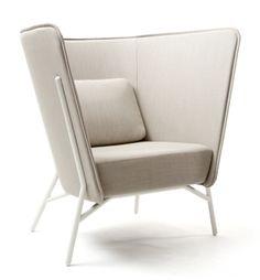 Aura Chair Easy chair / Mikko Laakkonen for Inno Design Furniture, Unique Furniture, Chair Design, Home Furniture, Furniture Chairs, Kitchen Lighting Design, Interior Desing, High Back Chairs, Single Sofa