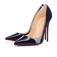 Crushing on this new color!!  So Kate 120mm Nuit Patent Leather