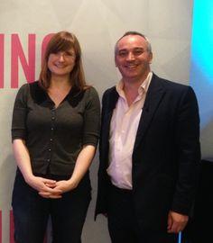 Kate Tyler & Jonathan Jay (digital marketing expert) in London.