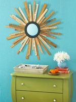 How To: Repurposed Ruler Starburst Mirror ¿ Better Homes & Gardens ¿ BHG.com