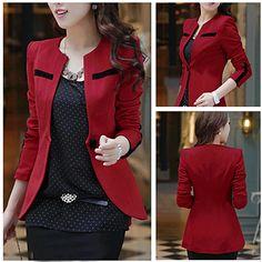 Perfect New Arrival Korean Style One-Button Blazer: dressyours.com #coat @United Salon Supplies