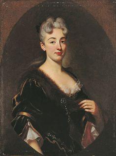 Portrait de Madame de Lafayette, école française du 18e siècle