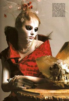 """""""Great Exaggerations"""" Vogue Italia, March 2005 Supplement Photographed by Richard Burbridge Stylist: Joanne Blades"""