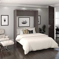 """See our web site for additional relevant information on """"murphy bed ideas ikea queen size"""". It is an outstanding area to read more. Full Murphy Bed, Murphy Bed Desk, Murphy Bed Plans, Modern Murphy Beds, Mattress Dimensions, Upholstered Platform Bed, Upholstered Beds, Bed Wall, Panel Bed"""