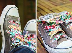 Genähte Schuhbänder