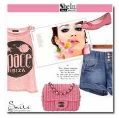 """Shein Contest"" by albinnaflower ❤ liked on Polyvore featuring New Look, Kate Spade and Chanel"
