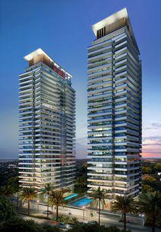 Condominium Architecture, Futuristic Architecture, Architecture Plan, Beautiful Architecture, Architecture Details, Building Facade, Building Design, Building Elevation, Amazing Buildings