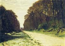 Road in a Forest Fontainebleau - Claude Monet
