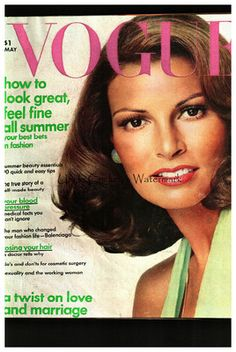 Vogue 1973 May fashion magazine cover by Richard Avedon of Raquel Welch - $145