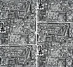 Eduardo Paolozzi 'Barkcloth' for his own company Hammer Prints, 1954 Artists' textiles: a masterpiece in every home - Telegraph Textile Patterns, Textile Design, Fabric Design, Pattern Design, Textiles, Eduardo Paolozzi, Textile Artists, Print Artist, Line Art