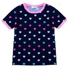 Camiseta Heart Meninas Algodão