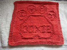 Ravelry: I Love My Doxie Dishcloth pattern by Louise Sarrazin