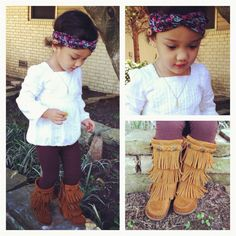 Adorable Boho Baby styled with a Rayna Jaye Turban Headband!
