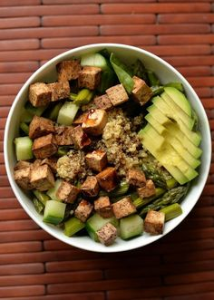 Vegan Protein Bomb Salad #protein #tofu #avocado #vegan