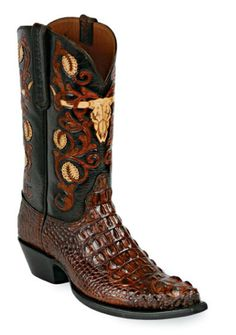 Hand-Tooled Leather Boots Style HT-152 Custom-Made by Black Jack Boots