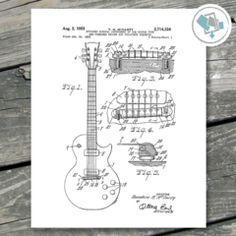 Guitar Patent Prints Printable Wall Art