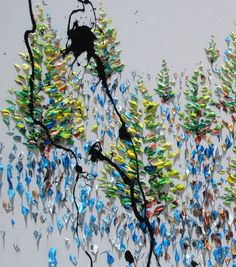Forest 40 painting oil on canvas 2015 original by KobyFeldmos