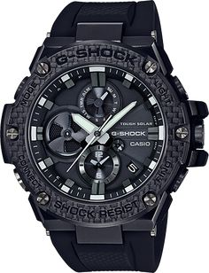 online shopping for Men's Casio G-Shock G-Steel Black Carbon Resin Bluetooth Watch from top store. See new offer for Men's Casio G-Shock G-Steel Black Carbon Resin Bluetooth Watch Casio G Shock, G Shock Watches, Sport Watches, Watches For Men, Men's Watches, Fashion Watches, Wrist Watches, Nice Watches, Casual Watches