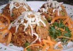 Kuřecí rizoto se zeleninou a restovanými játry | NejRecept.cz Food And Drink, Mexican, Snacks, Dishes, Meat, Chicken, Ethnic Recipes, Soups, Risotto