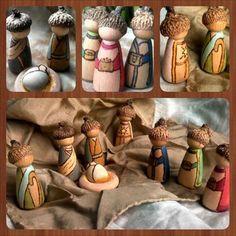 Peg Doll Nativity // Wooden Nativity // Waldorf Christmas // Nativity Scene // Holy Family // PegCorn // Simple Gifts