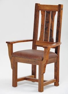 Barn wood furniture made for you. The Barnwood Furniture Collection is made from salvaged wood taken from Barns across the USA. Rustic Dining Chairs, Farmhouse Chairs, Rustic Chair, Dining Room Chairs, Wood Chairs, Craftsman Furniture, Cabin Furniture, Rustic Country Furniture, Wooden Chair Plans