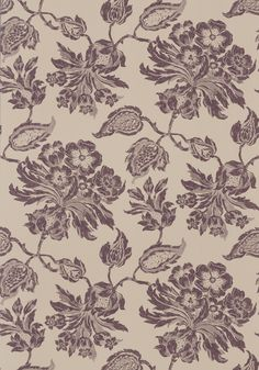 HELENA, Brown on Natural, F94104, Collection Richmond from Thibaut