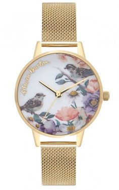 Browse our brilliant range of stylish Olivia Burton watches, featuring the fantastic woodland collection with butterflies, birds and bees, and an on trend selection of colours and styles. Stylish Watches, Luxury Watches For Men, Garden Mesh, Pink Watch, Rose Gold Watches, Fossil Watches, Beautiful Watches, Gold Bangles, Watch Sale