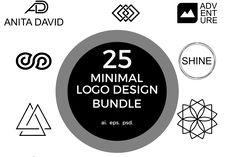 25 minimal logos  from FontBundles.net