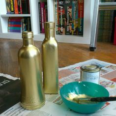 DIY - @Miglena Stoyanova- #webstagram #gold #bottles #diy #recycling #craft #homedecor #recycled #painting #artworks #ibbanez #handmade #decorating #nationalgeographic #rome