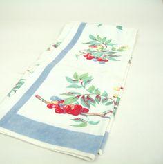 Vintage Tea Towel Berries. $5.00, via Etsy.