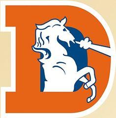 Denver Broncos Repositionable Logo Decal Set