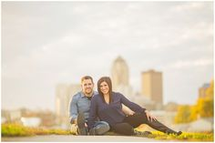 Des Moines, Iowa Fall Engagement Photos by ZTS Photo http://www.ztsphoto.com Sarah & Tanner Urich