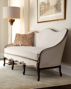 """""""Becka"""" Tight-Back Sofa by Key City Furniture at Horchow., if i ever did classic french design i'll pick this one"""