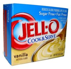 Jell-O, Cook and Serve, Sugar Free Vanilla, 0.8oz Box (Pack of 4) >>> Special discounts just for this time only  : baking desserts recipes