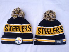 7e5a2153414 NFL New Era Pittsburgh Steelers Beanies Knit Hats Black 1409760! Only   7.90USD Knit Hats