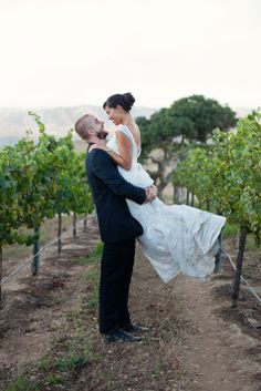 Fun & romantic moment in the vinyeard // Laura Hernandez Photography // http://www.theknot.com/submit-your-wedding/photo/1ca7a892-a28b-48ec-8d62-3fca1d3ee4d4/Sam-and-Christina