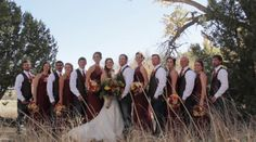 Wedding party photo #fall #rustic