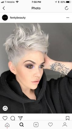 Trend Short Spiky Hairstyles for Women - Hairstyleto Short Spiky Hairstyles, Hairstyles For Round Faces, Short Hairstyles For Women, Cool Hairstyles, Pixie Haircuts, Short Hair Cuts For Women Edgy, Grey Haircuts, Edgy Short Hair, Brown Hairstyles