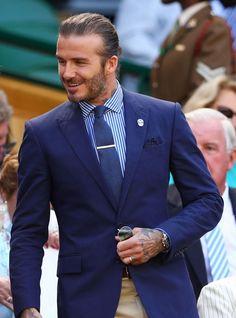 David Beckham at Wimbledon wearing a Rolex GMT-Master II Rolex Gmt, Rolex Submariner, Rolex Watches, Beckham Suit, Ayo And Teo, David Beckham Style, Mens Fashion Suits, Luxury Watches For Men, Gentleman Style