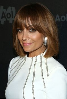 nicole richie's bangs and cut - choppier would be cool but color and bangs are sweet!